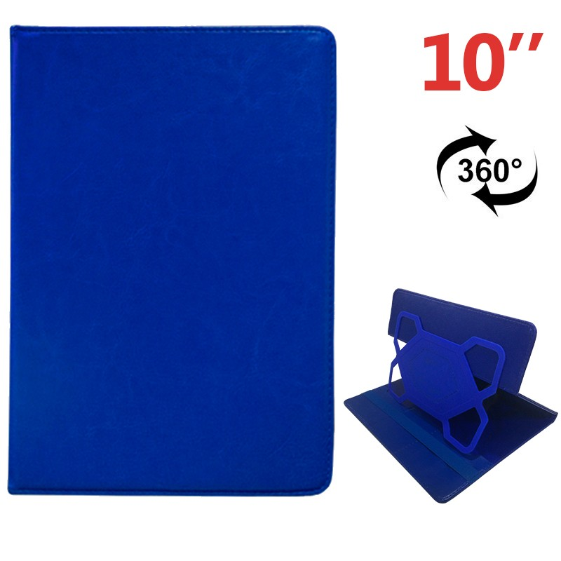 COOL 006528 Funda Ebook Tablet 10 pulgadas Polipiel Azul Giratoria