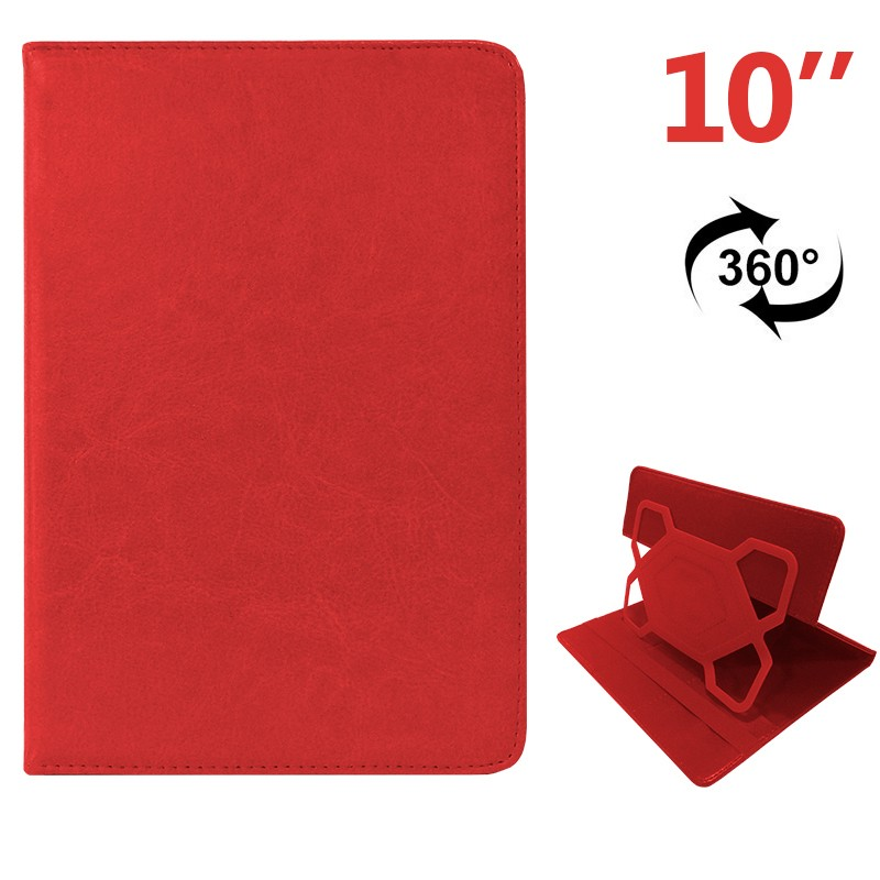 COOL 006532 Funda Ebook Tablet 10 pulgadas Polipiel Rojo Giratoria