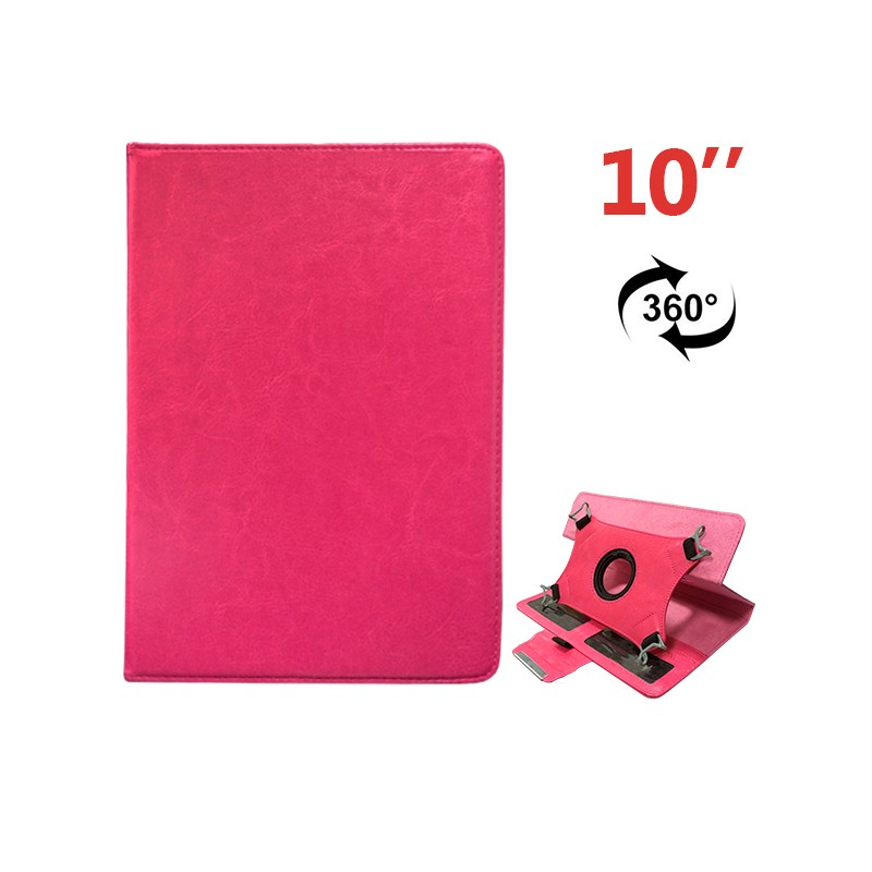 COOL 006533 Funda Ebook Tablet 10 pulgadas Polipiel Rosa Giratoria