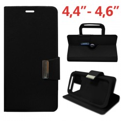 COOL 008212 Funda Universal Flip Cover 4.4 pulg - 4.6 pulg Liso Negro