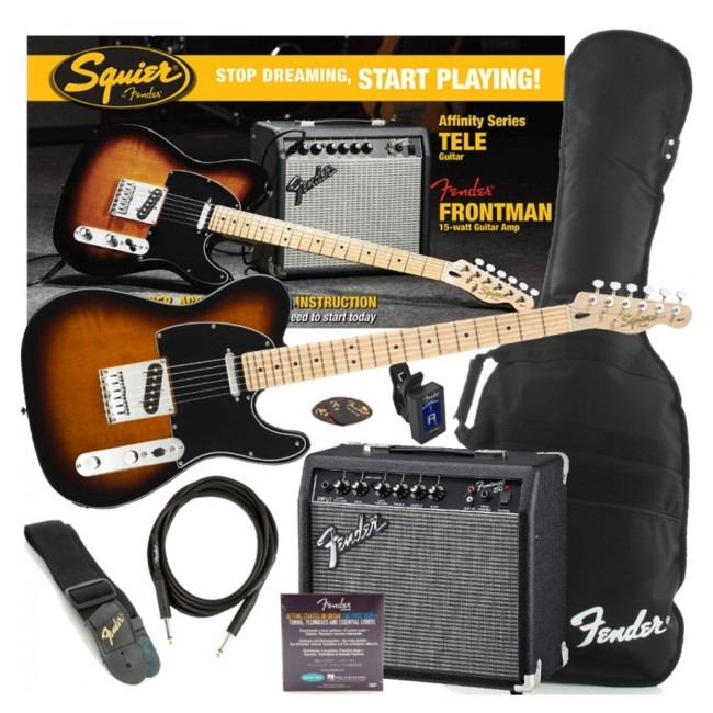 FENDER 0301618632 PACK GUITARRA ELECTRICA SQUIER TELECASTER AFFINITY SOMBREADA FRONTMAN 15G
