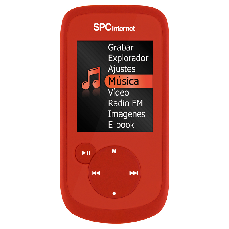 "SPC 8168R REPRODUCTOR MP4 TELECOM 8 GB TFT 1.8"" FM COLOR ROJO"