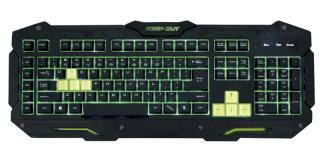KEEP-OUT F89S TECLADO GAMING KEEP-OUT RETROILUMINADO EN 7 COLORES 8 TECLAS GAMING 12 TECLAS MULTIMEDIA 3