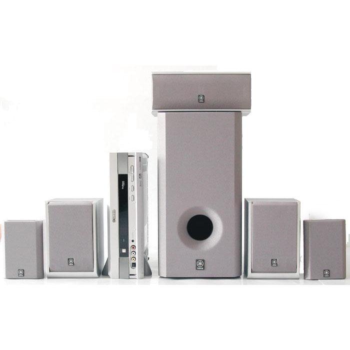 YAMAHA HI-FI VS10 ALTAVOVES YAMAHA 5.1 COLOR PLATA  VS-10+NX-WS10