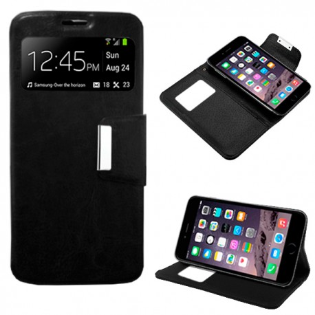COOL 007475 Funda Flip Cover iPhone 6 / 6s Liso Negro